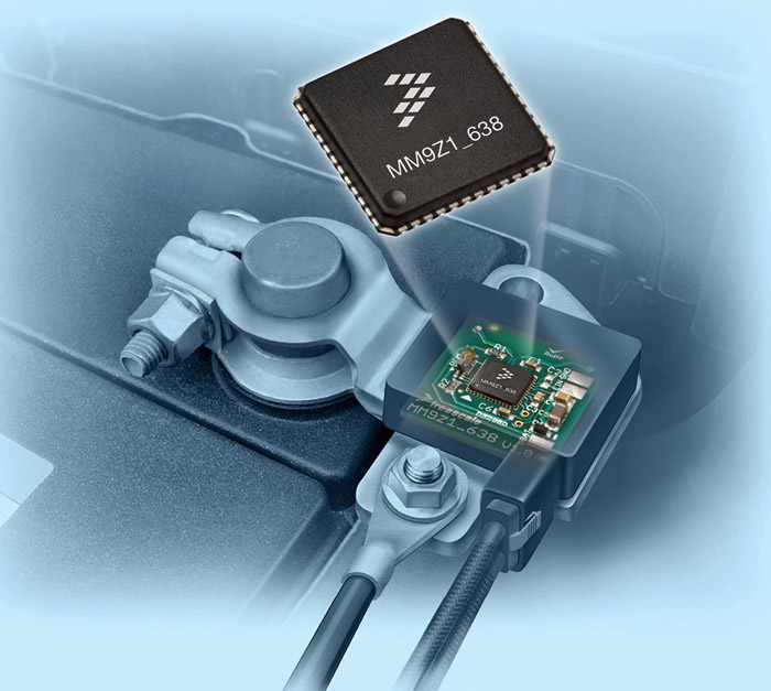 Automotive-qualified sensor monitors battery voltage, current and temperature (Courtesy: Freescale Semiconductor)