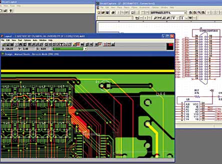 OrCAD electronic design automation software (Image courtesy: www.leeds.ac.uk)