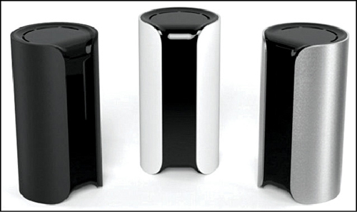 The 15cm tall gadget has a built-in HD camera with night vision, microphone speakers, motion, temperature, air and humidity sensors and a siren (Courtesy: https://www.indiegogo.com)