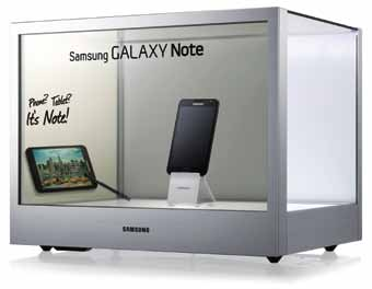 Samsung's NL22B transparent display