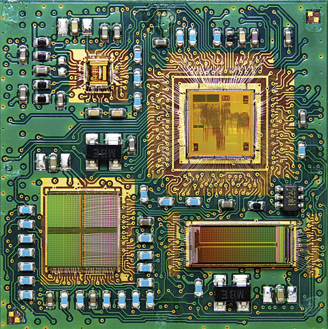 Inside view of a multi-chip module (MCM) (Courtesy: http://developer.axis.com)