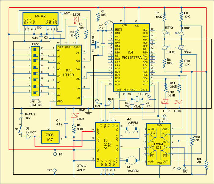 Fig. 4: Circuit of the robot