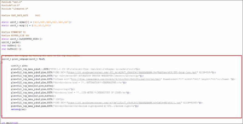 Fig. 5: html page in the source code