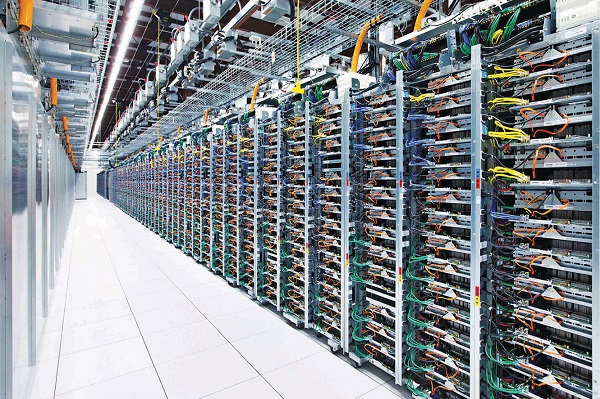 Fig. 8: Big Data being processed at Google's data centres (Source: www.whatsthebigdata.com)