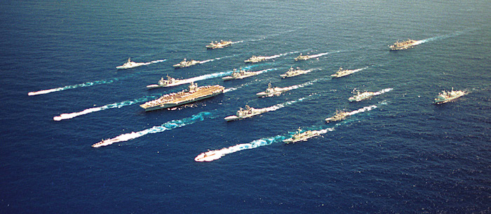 Fig. 1: A typical US Navy carrier strike group