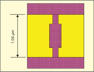 Fig. 4: Electron micrograph of nanoantenna