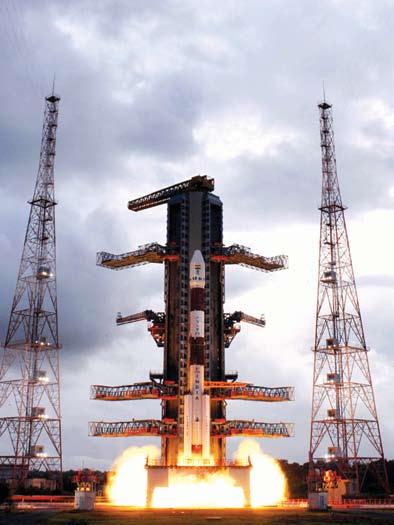Fig. 1: Launch of Chandrayaan-1