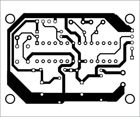 Fig. 5: Component layout of the PCB shown in Fig. 4