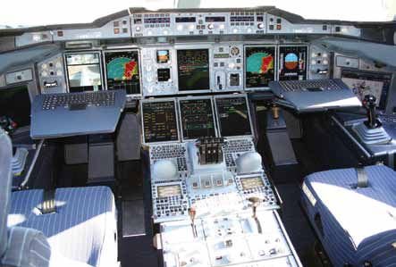 Airbus A380 cockpit (Courtesy: Wikipedia)