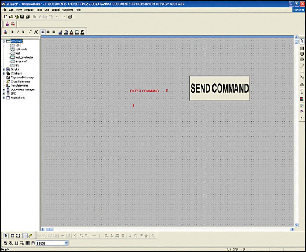 Fig. 16: Wonderware development tool