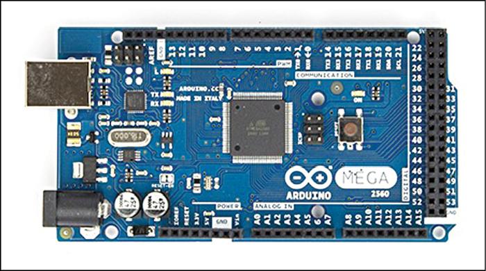 Fig. 1: Arduino Mega 2560 board (Courtesy: arduino.cc)