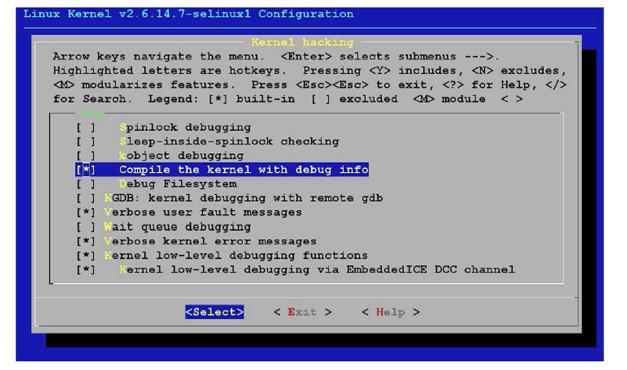 Figure 3: Linux Kernel Configuration