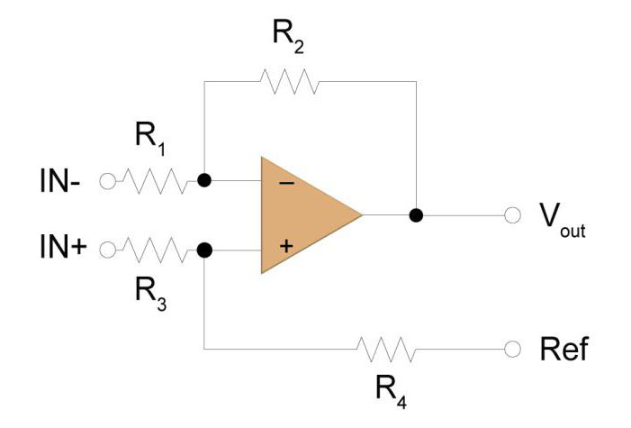 Figure 1: Difference Amplifier Circuit