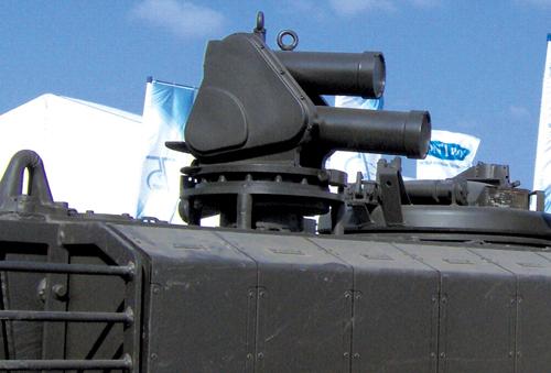 Fig. 10: Interceptor launcher of Israeli 'Iron Fist' APS (Photograph credit: Ereshkigal1 through Wikipedia)