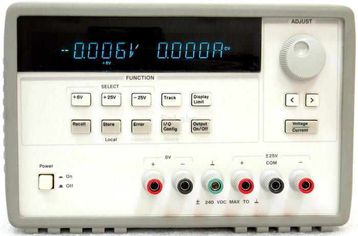 Keysights 3631A 80W triple-output power supply