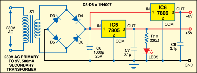 Fig.2: Circuit of the power supply