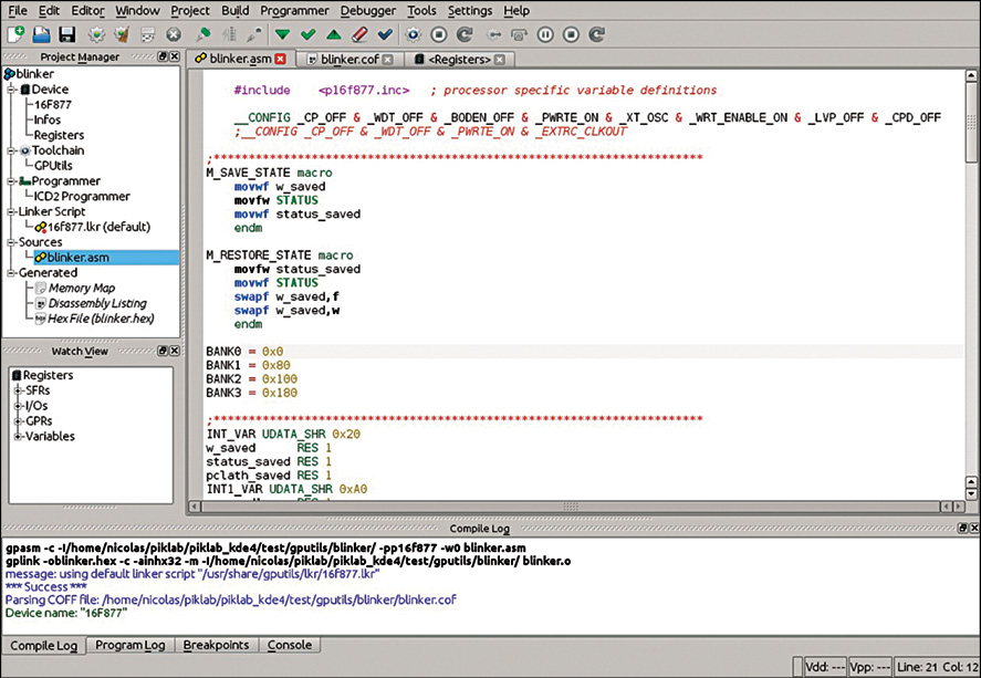Fig. 5: Source code editor