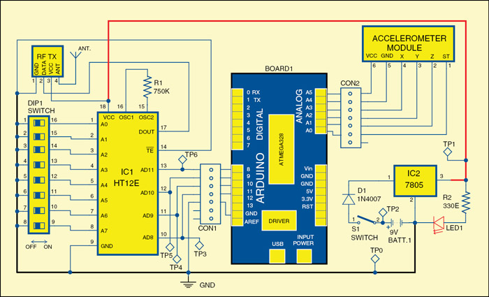 Fig. 3: Circuit of the wireless steering