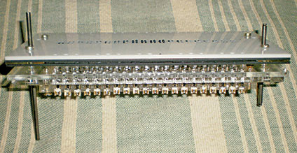 Side view of the motor assemblyunder the pin plate