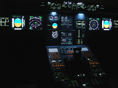A home built Airbus simulator cockpit (Courtesy - Wikipedia)