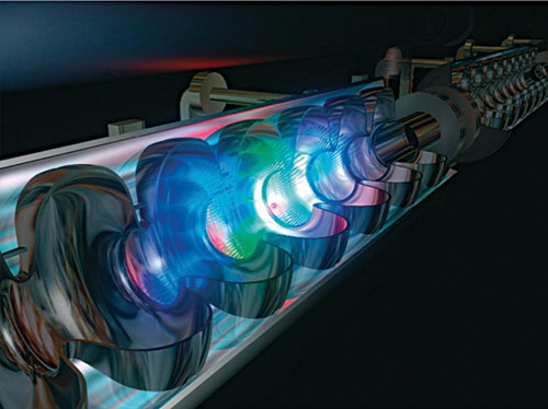 Fig. 10: Free-electron laser