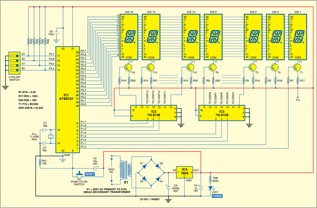 Fig.1. for microcontroller -based moving -message display
