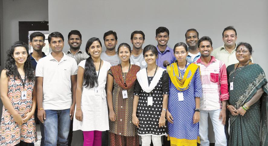 Tymtix team (left to right): Jyoti Chauhan, Vinayak Hegde, Mahesh T., Kalaiselvan Vallal, Banuja Nayak, Yuvaraj Tana, Prathima D., Tejas J., Veena Putham, Vipin E., Aparna Rajan, Prabu Surendra, Ragavendiran E., Kailash Dahiya and Krishnaveni