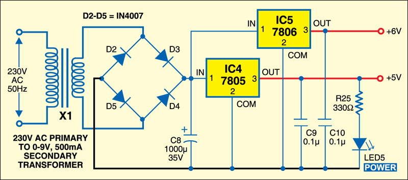 Fig.2:Power supply circuit