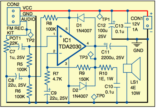 Circuit of receiver amplifier section