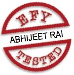 abhijeet rai EFY tested