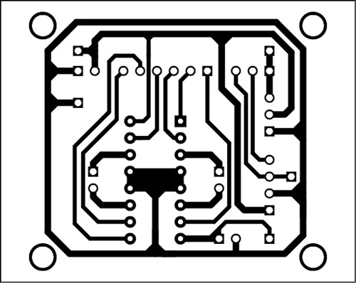 single side pcb of the soccer robot