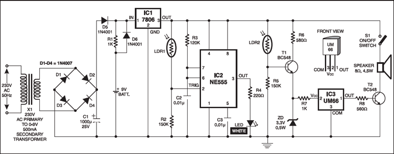 automatic night lamp circuit
