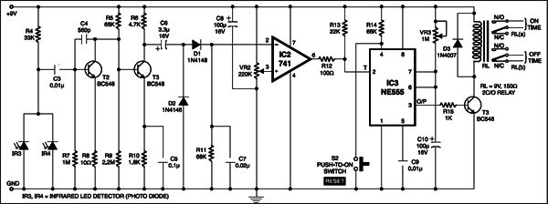 Infrared Remote Controlled Timer: IR receiver section
