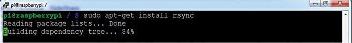 Fig. 12: Installing the rsync