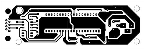 Fig. 3: An actual-size, single-side PCB for programming using the bootloader