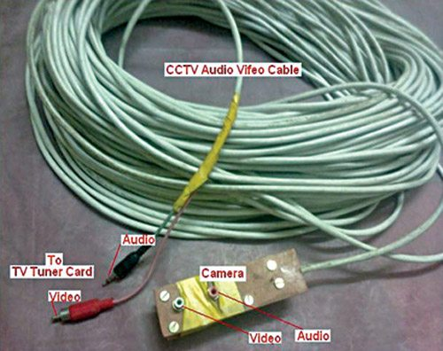 Fig. 8: Self-made audio-video cable with both end male and female connectors