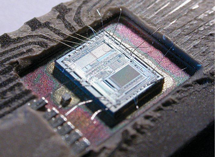 The die for an Intel 8742, an 8-bit MCU