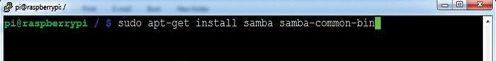 Fig. 5: Installing samba