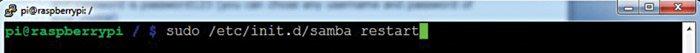 Fig. 9: Restart samba