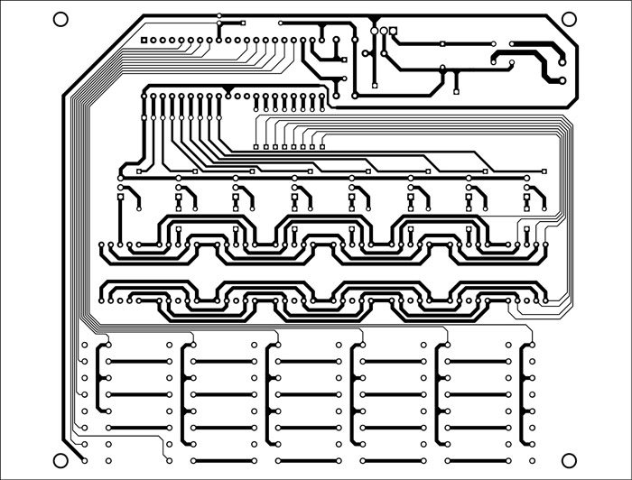 Fig. 3: A PCB layout for the celestial weight calculator