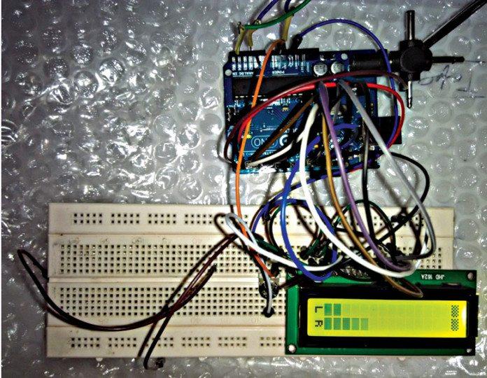 arduino based audio meter
