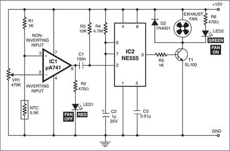 Fig. 1: Circuit of smoke extractor