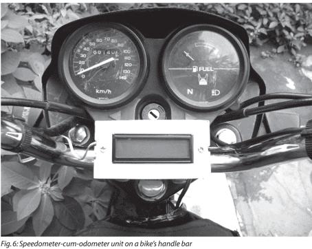 testing the speedometer