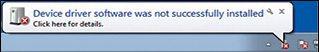 Fig. 5: Error message received during installation