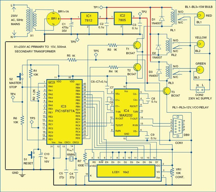 Fig. 2: Circuit diagram of the programmable interval timer