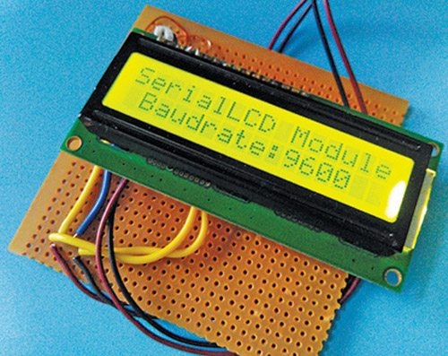 Fig. 1: Author's prototype for the Serial LCD Module