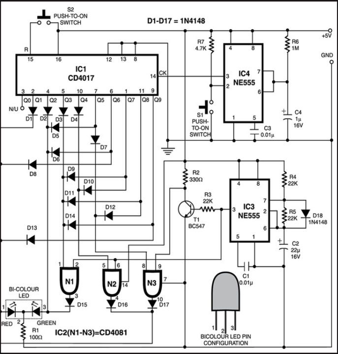 Programmable LED Indicator circuit
