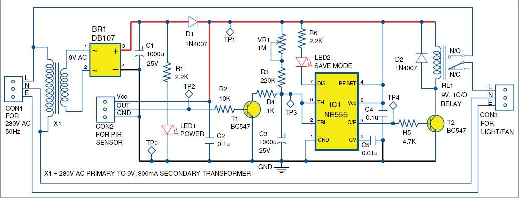 Infrared Sensor Based Power Saver