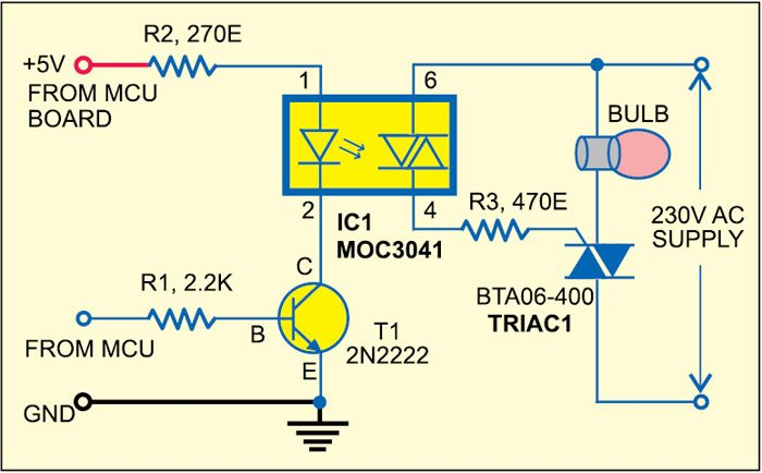 Fig. 5: Circuit of solidstate light switch module