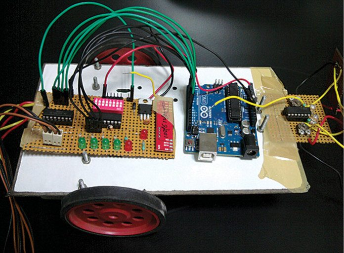 arduino based RF controlled robot